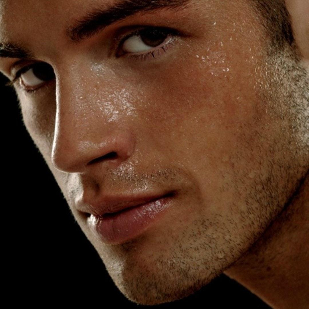 #men #face #wet