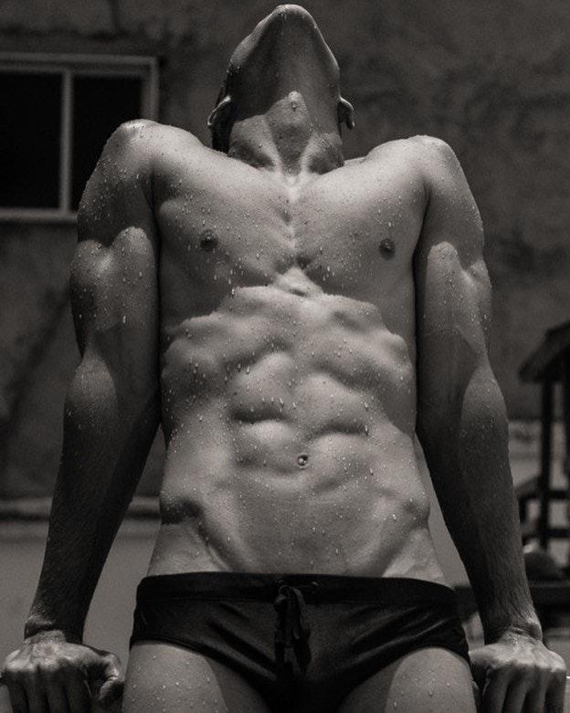#men #abs #bulge #blackandwhite