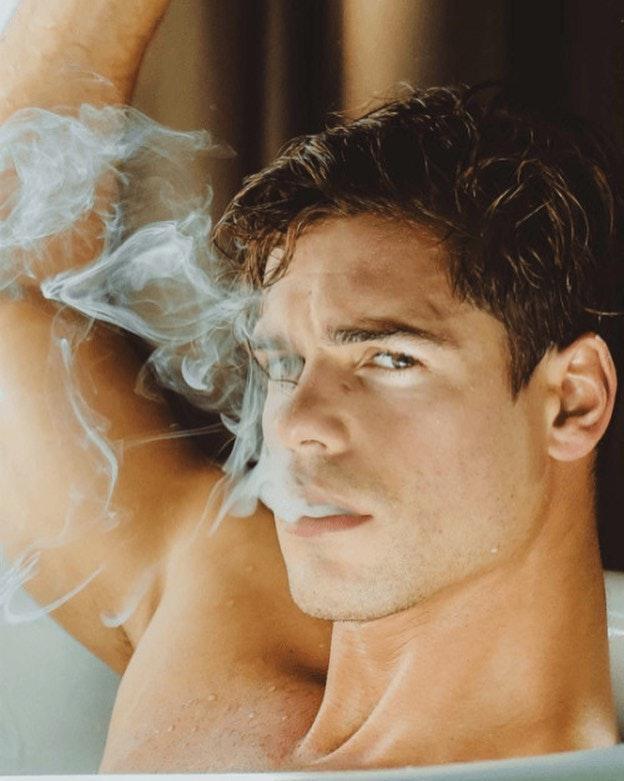 #men #face #smoking #muscle