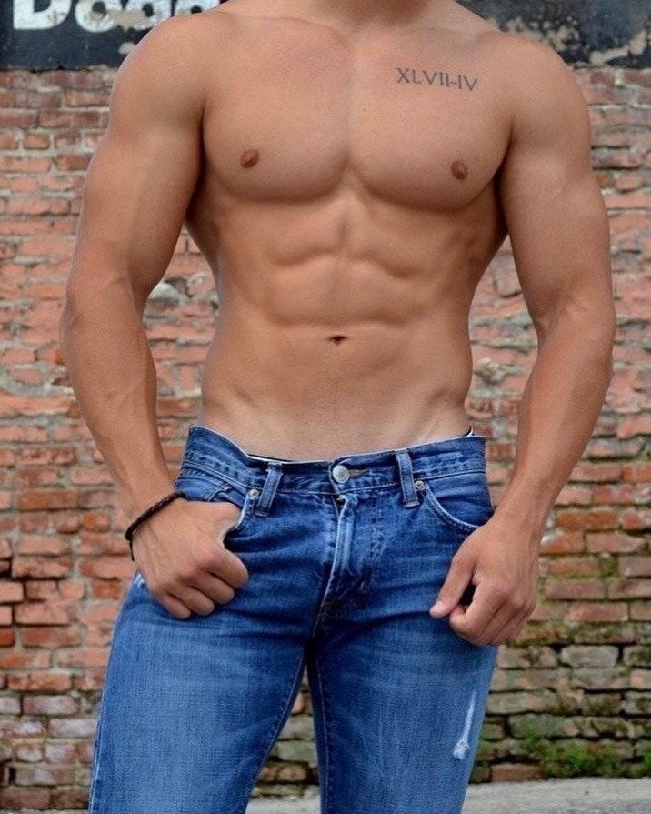 #men #jeans #muscle #abs #hotmen