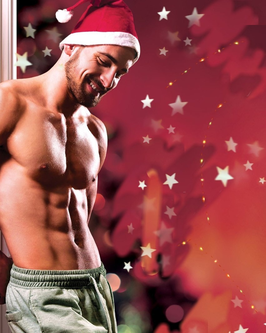#men #hunks #santa #sixpack