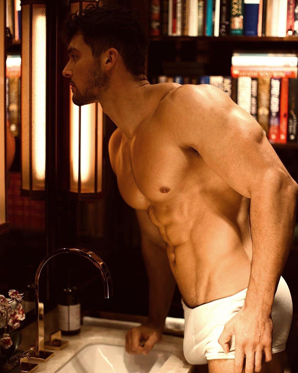 #joshwatson #men #muscular #underwear #bulge