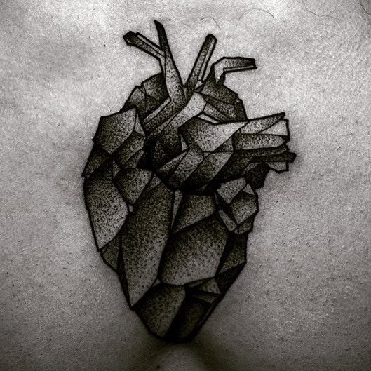 #men #tatoo #heart #blackandwhite